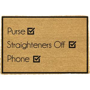Rohožka z prírodného kokosového vlákna Artsy Doormats Purse Straighteners Phone 40 x 60 cm