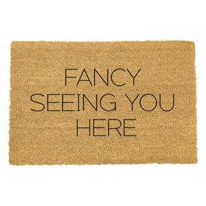 Rohožka z prírodného kokosového vlákna Artsy Doormats Fancy Seeing You Here, 40 x 60 cm