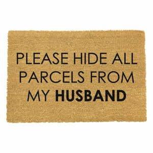 Rohožka z prírodného kokosového vlákna Artsy Doormats Please Hide, 40 x 60 cm