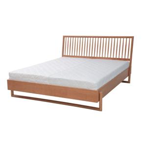 Dvojlôžková posteľ z dubového dreva Ragaba Diamond, 160 x 200 cm
