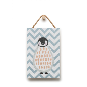 Nástenná dekorácia s motívom tučniaka KICOTI, 20 × 30 cm