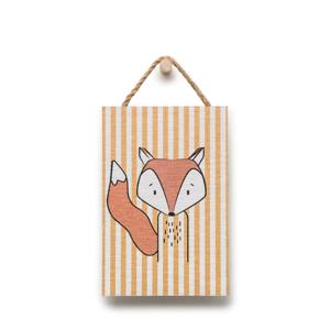 Nástenná dekorácia s motívom líšky KICOTI, 20 × 30 cm