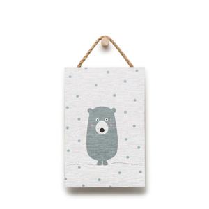 Nástenná dekorácia s motívom medvedíka KICOTI, 20 × 30 cm