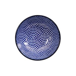 Modro-biely tanier Tokyo Design Studio Nippon Dot, ø 9,5 cm