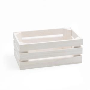 Biela škatuľa z jedľového dreva Bisetti Fir, 26×15,7cm