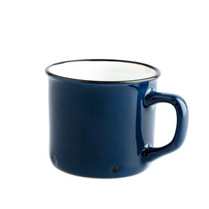 Tmavomodrý keramický hrnček Dakls Story Time Over Tea, 230 ml