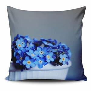 Obliečka na vankúš s prímesou bavlny Cushion Love Azulo Gris, 45 × 45 cm