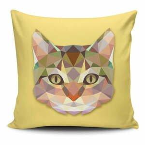 Obliečka na vankúš s prímesou bavlny Cushion Love Cat, 45 × 45 cm