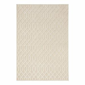 Krémovobiely koberec z viskózy Mint Rugs Caine, 200 × 300 cm
