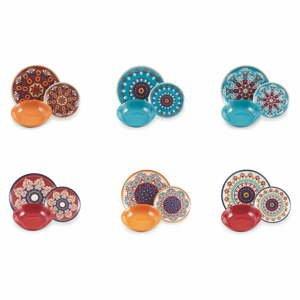 18-dielna súprava farebného riadu z porcelánu a kameniny Villa d'Este Shiraz