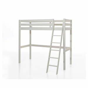 Biela detská posteľ s rebríkom Vipack Pino, 90×200 cm