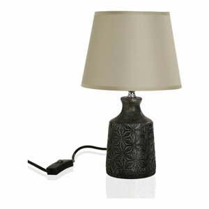 Sivá stolová lampa Versa Home