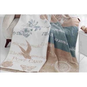 Deka s prímesou bavlny Aksu Alexa, 200 × 150 cm