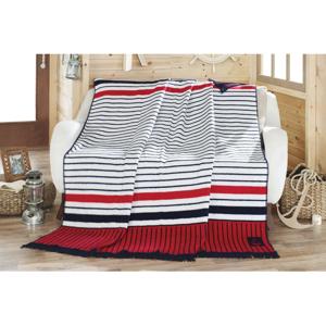 Deka s prímesou bavlny Aksu Liner, 220 × 180 cm