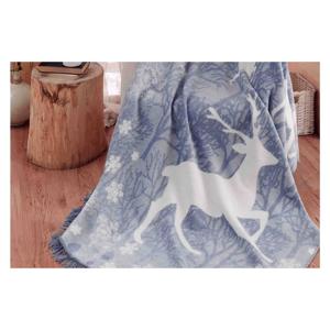 Deka s prímesou bavlny Aksu Ruby, 200 × 150 cm