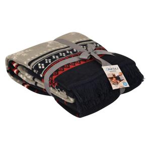 Deka s prímesou bavlny Aksu Carmelo Blanche, 200 × 150 cm