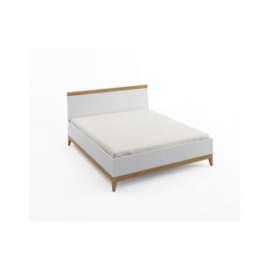 Dvojlôžková posteľ z masívneho borovicového dreva SKANDICA Livia High Bed, 140 x 200 cm