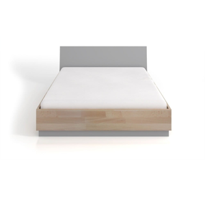 Dvojlôžková posteľ z bukového a borovicového dreva SKANDICA Finn BC, 200 x 200 cm