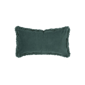 Modrý vankúš so zamatovým povrchom PT LIVING, 60 x 30 cm