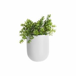 Matne biely nástenný keramický kvetináč PT LIVING Oval