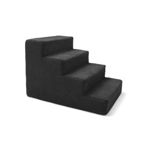 Čierne schody pre psov a mačky Marendog Stairs, 40 × 60 × 40 cm