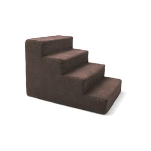 Hnedé schody pre psov a mačky Marendog Stairs, 40 × 60 × 40 cm