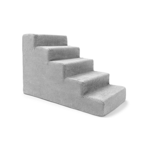 Svetlosivé schody pre psov a mačky Marendog Stairs, 40 × 75 × 50 cm