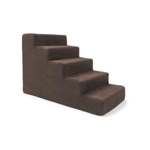 Hnedé schody pre psov a mačky Marendog Stairs, 40 × 75 × 50 cm