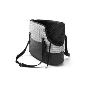 Čierno-biela cestovná taška pre psa Marendog Pepita, 18 × 42 × 33 cm
