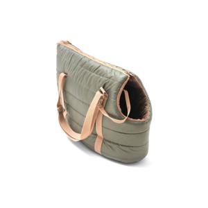 Olivovozelená cestovná taška pre psa Marendog Olive, 17 × 32 × 27 cm