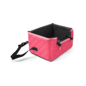 Červená prepravná taška pre psa do auta Marendog Travel, 40 × 47 × 25 cm