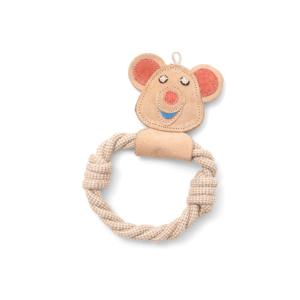 Ručne vyrobená hračka pre psov z prírodnej kože Marendog Bear