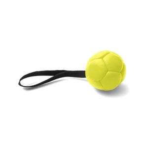 Žltá ručne vyrobená hračka pre psov z prírodnej kože Marendog Ball, ⌀ 10 cm
