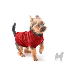Červený svetrík pre psov Marendog Trip, veľ. L