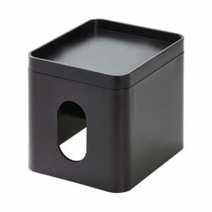 Čierny box na vreckovky iDesign Cade