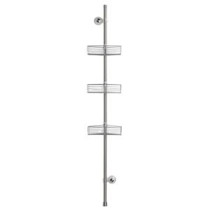 Rohový stojan do kúpeľne s 3 poličkami z antikoro ocele iDesign Forma