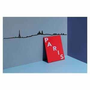 Čierna nástenná dekorácia so siluetou mesta The Line Paris