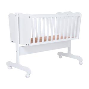 Biela detská kolíska KICOTI Simple, 40 × 90 cm