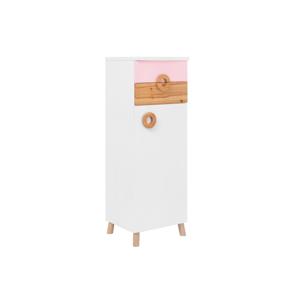 Ružovo-biela skrinka KICOTI Circle
