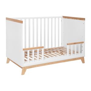 Biela detská postieľka KICOTI Fun, 60 × 120 cm