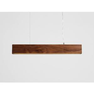 Závesné svietidlo z orechového dreva Custom Form Line Plus L