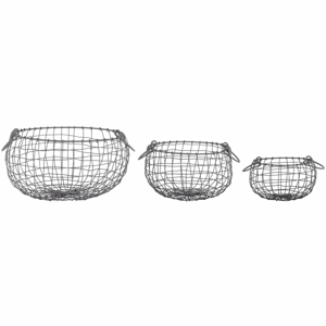 Súprava 3 drôtených kvetináčov Esschert Design Razzo