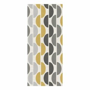 Sivo-žltý behúň Floorita Halfmoon, 60 x 190 cm