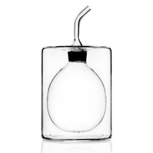 Dvojitá sklenená fľaša na olej Cilindro