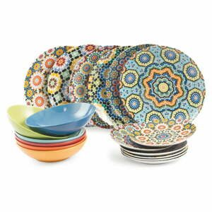 18-dielny porcelánový set riadu Villa d'Este Marrakech