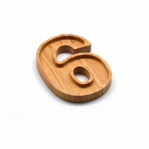 Bambusová miska na oriešky v tvare čísla 6 Bambum Numero