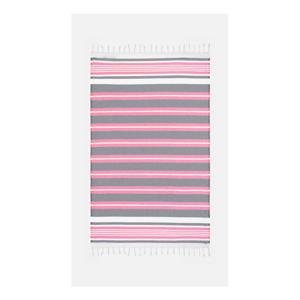 Ružovo-sivá osuška s prímesou bavlny Kate Louise Cotton Collection Line Pink Grey, 100 × 180 cm