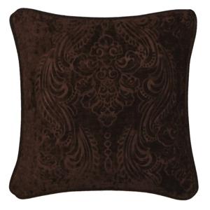 Tmavohnedá obliečka na vankúš Kate Louise Exclusive Ranejo, 45 × 45 cm