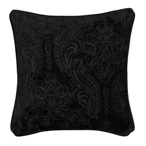 Čierny vankúš Kate Louise E×clusive Ranejo, 45 × 45 cm