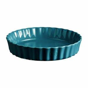 Tyrkysovomodrá keramická koláčová forma Emile Henry, ⌀ 24 cm